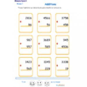 fiche 3 d'additions en colonne 2 chiffres
