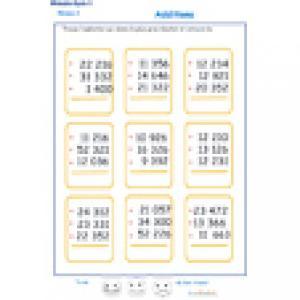 additions en colonne 3 chiffres