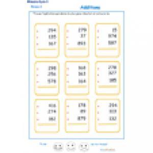 5 d'additions en colonne 3 chiffres