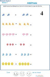Imprimer la fiche d'additions visuelles  - exercice 3