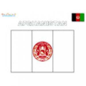 drapeau afganistan à colorier