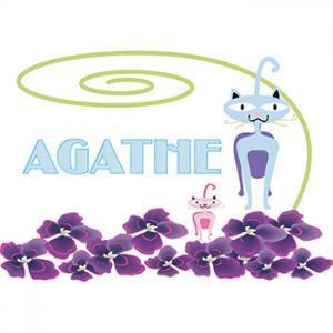 coloriage agathe chats et fleurs