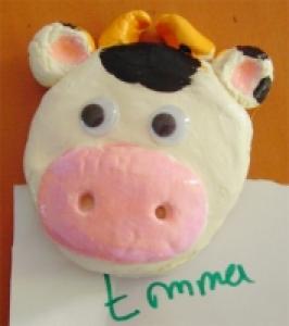 Aimants vache de la Fête des mères