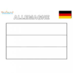 Drapeau de l'Allemagne pour le coloriage