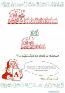 Alphabet de Noël à colorier : la couverture
