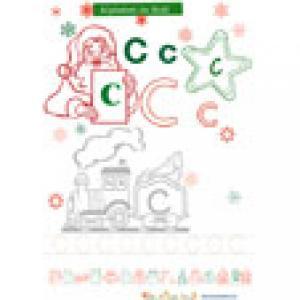 C de Alphabet de Noël à colorier