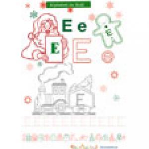 """Le """"E"""" alphabet de Noël à colorier"""