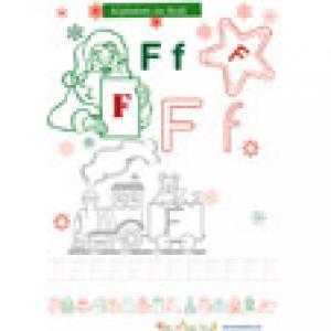 Coloriage du F de l'alphabet de Noël