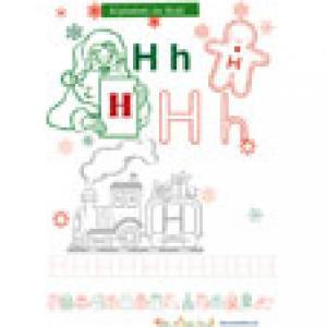 Lette H pour l'alphabet de Noël