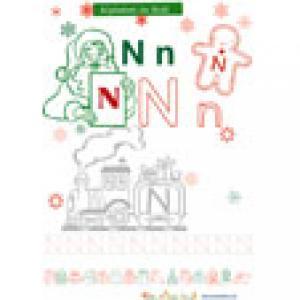 N à colorier pour l'alphabet de Noël
