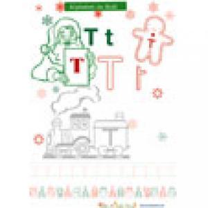 """Lettre """"T"""" de l'alphabet de Noël"""