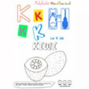 """Alphabet : lettre """"K"""" majuscule à imprimer"""