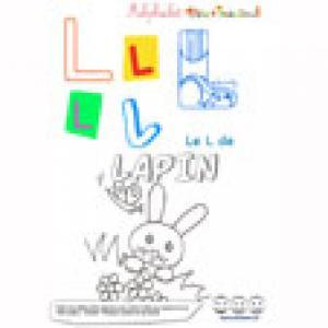 """Alphabet : lettre """"L"""" majuscule à imprimer"""
