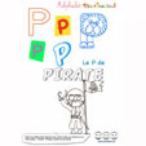"""Alphabet : lettre """"P"""" majuscule à imprimer"""