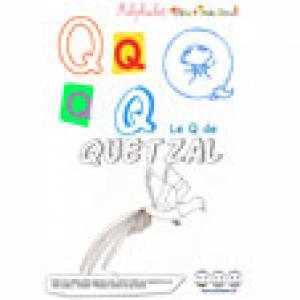 """Alphabet : lettre """"Q"""" majuscule à imprimer"""