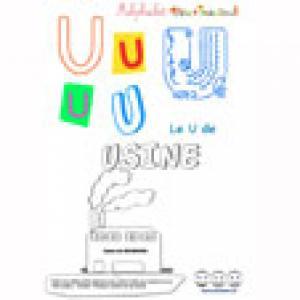 """Alphabet : lettre """"U"""" majuscule à imprimer"""