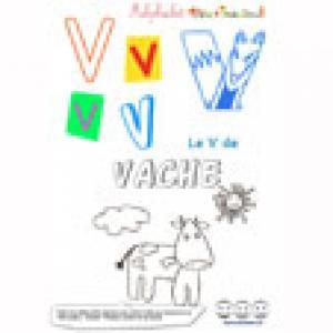"Alphabet : lettre ""V"" majuscule sur Tête à modeler à imprimer"