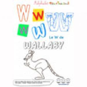"""Alphabet : lettre """"W"""" majuscule à imprimer"""