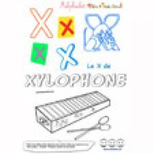 """Alphabet : lettre """"X"""" majuscule à imprimer"""