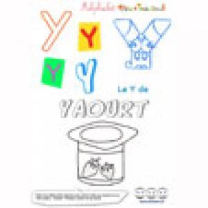 """Alphabet : lettre """"Y"""" majuscule à  imprimer"""