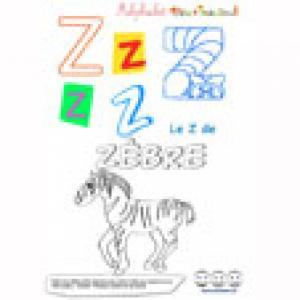 """Alphabet : lettre """"Z"""" majuscule à imprimer"""