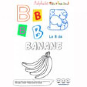 """Alphabet : lettre """"B"""" majuscule à imprimer"""