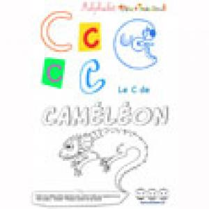 """Alphabet : Le """"C"""" majuscule à imprimer"""