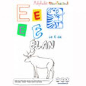 """Alphabet : lettre """"E"""" majuscule à imprimer"""