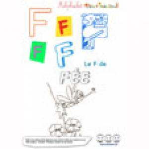 """Alphabet : lettre """"F"""" majuscule à imprimer"""