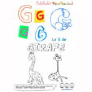 """Alphabet : lettre """"G"""" majuscule à imprimer"""