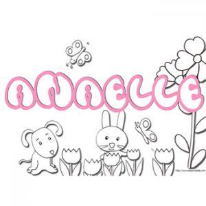 coloriage prénom Anaelle