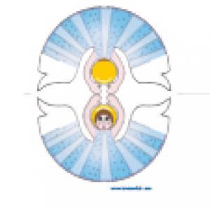 Ange bleu à imprimer
