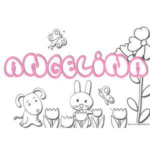 coloriage prénom Angelina