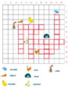 Grille de mots croisés à images sur les animaux grille 4