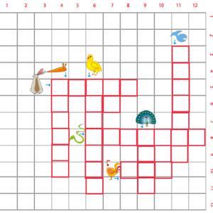 Imprimer la Grille de mots croisés sur les animaux grille 4 pour le primaire cycle 2