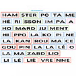 Planche 4 de syllabes à imprimer