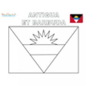 Drapeau Antigua et Barbuda pour le coloriage