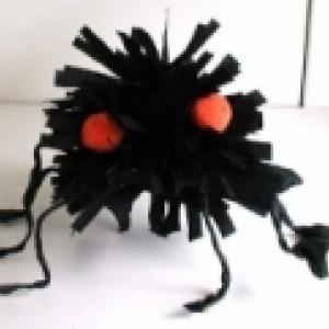 Grosse araignée noire d' halloween