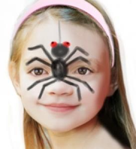 Maquillage araignée enfant