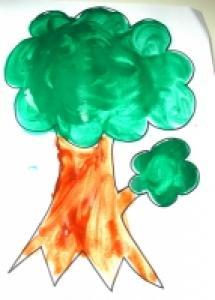 Peindre des arbres d'automne avec les enfants