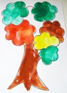 Peindre un arbre aux couleurs d'automne