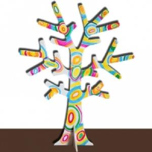 Arbre porte-bijoux pop art