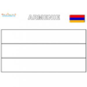 Drapeau de l'Arménie à colorier