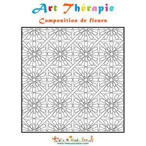 Art Thérapie : composition de fleurs