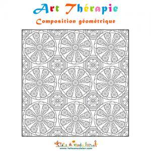 Art thérapie composition géométrique en cercles
