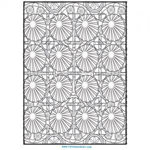 Motifs géométriques à colorier