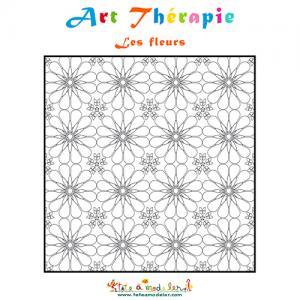Art Thérapie, coloriage des fleurs