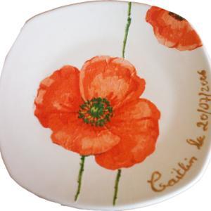 Assiette vide-poche décorée de motifs serviette en papier