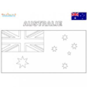 Drapeau de l'Australie à colorier