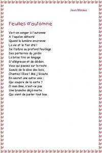 """Poésie """" Feuilles d'automne   """" de Jean Moréas"""